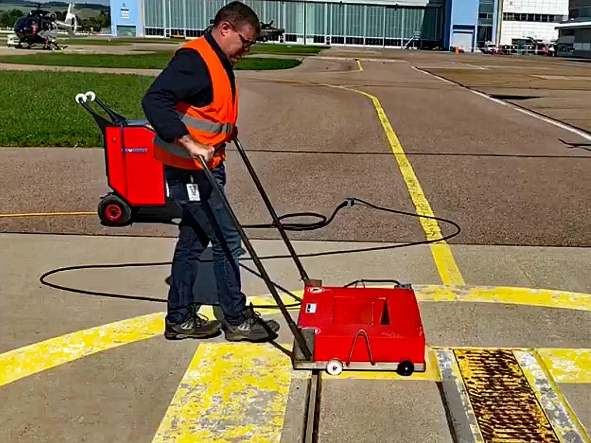 Degaussing helipad service on location | Goudsmit Magnetics