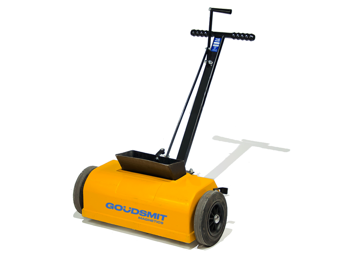 Magnetic broom for sweeping iron particles from your floor | Goudsmit Magnetics