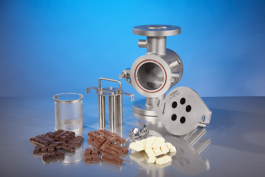 Inline magnet filter for chocolate | Goudsmit Magnetics