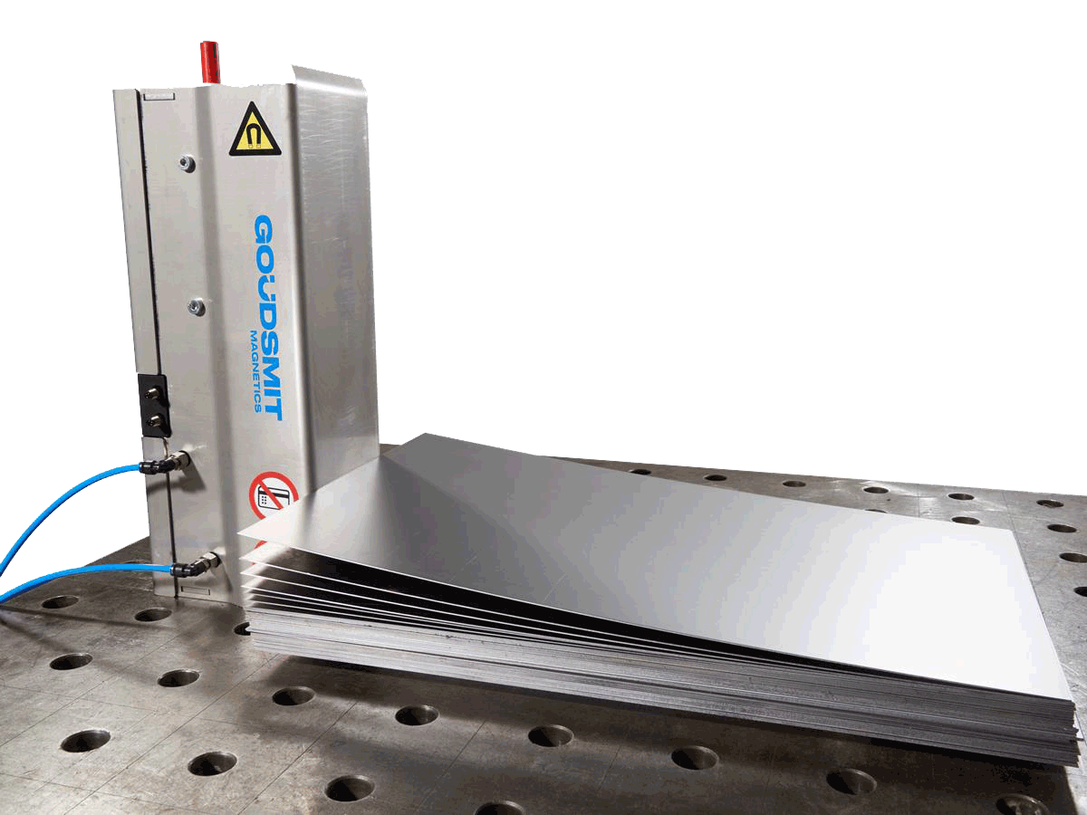 Sheet seperator, switchable, fail safe neodymium | Goudsmit Magnetics