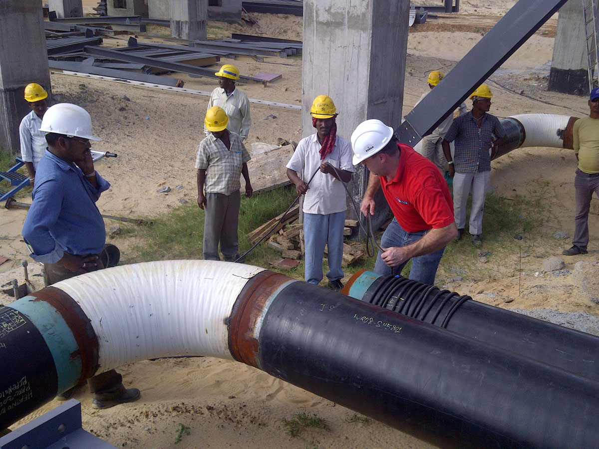 Demagnetization service oil pipeline