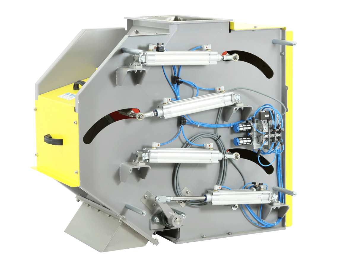 Cascade magnet separator for coarse products - automatic cleaning | Goudsmit Magnetics
