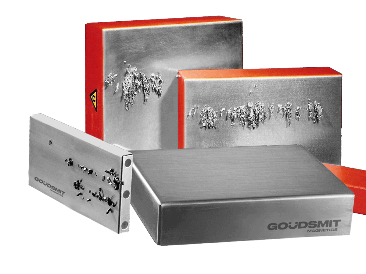 Plate- and block magnets for ferrous contaminants removal | Goudsmit Magnetics
