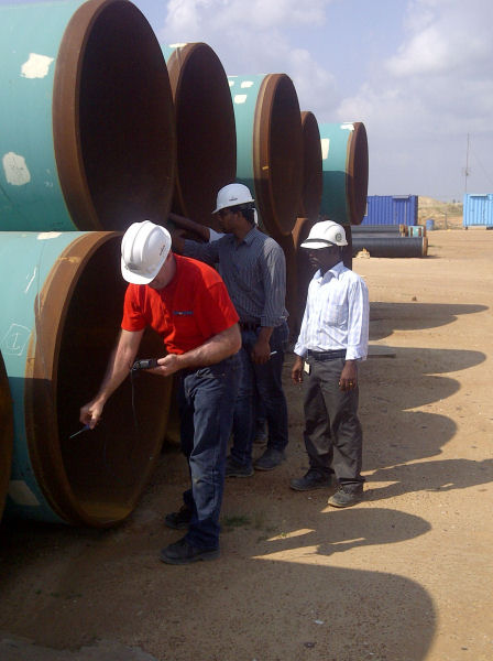 Degaussing of oil pipeline in India